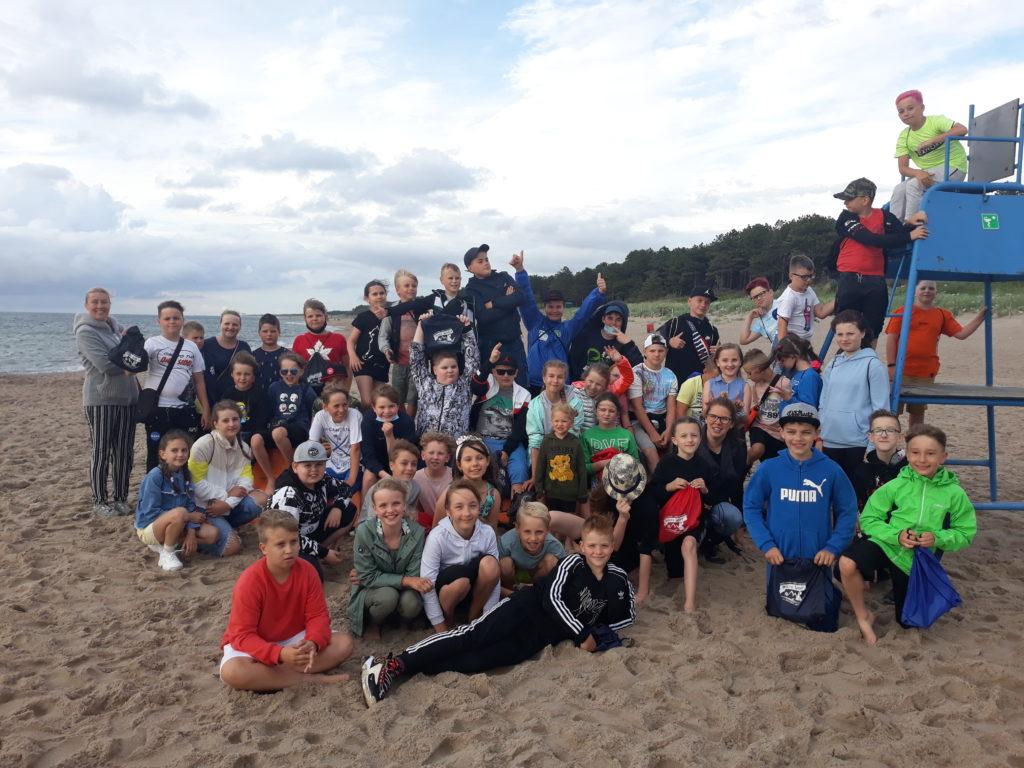 Obóz nad morzem w Dąbkach 2020